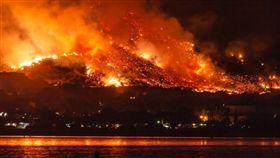 加州,野火,消防  翻攝推特