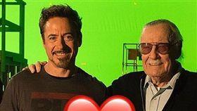 (圖/翻攝自robertdowneyjr IG)漫威,Marvel,史丹李,Stan Lee,離世