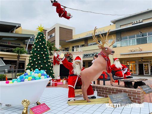 桃園華泰名品城,OUTLET,聖誕節。(圖/記者馮珮汶攝)
