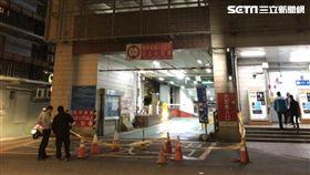 台北市西門町洛陽停車場女子跳樓命危送醫(翻攝畫面)