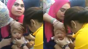 未滿1歲女嬰被帶去打耳洞,婦人卻一臉淡定…(圖/翻攝我們是馬來西亞人We are Malaysians臉書)