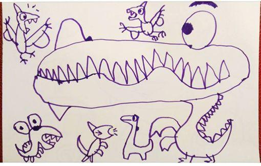 綺綺的恐龍綺想世界貼圖榮登LINE9月、10月MVP,爸媽捐出6萬獎金給兒童公益團體,讓綺綺遺愛人間。(圖/翻攝施景中臉書)
