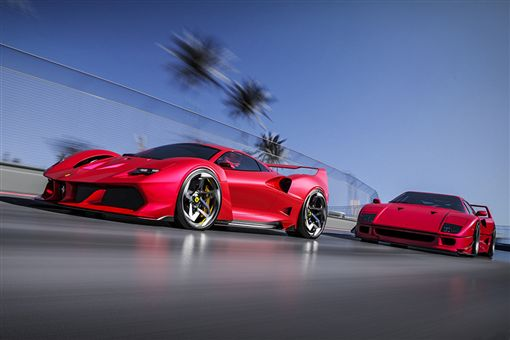 Samir Sadikhov設計的Ferrari F40 TRIBUTE。(圖/翻攝網站)