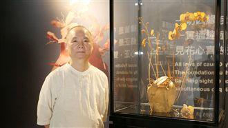 花博國寶級木雕 「破甕」花瓣薄如紙