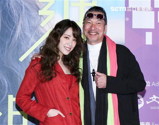 「腦波小姐」卡司發佈記者會歐陽妮妮、黃仲崑。(記者林士傑/攝影)