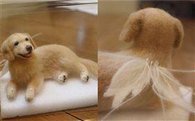愛犬離世半年…友人用牠的毛做成公仔 (圖/翻攝自岩崎英則推特)