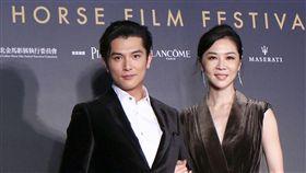 金馬入圍電影「誰先愛上他的」演員邱澤、謝盈萱。(記者林士傑/攝影)
