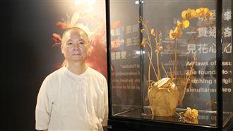 超精緻木雕蘭花花瓣薄如紙 花博展出
