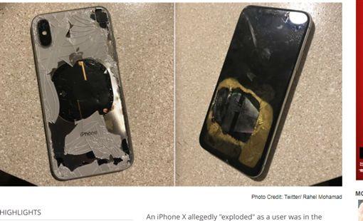 美國,iPhone X,爆炸,電池(圖/翻攝自《Gadgets360》)