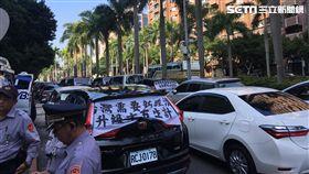 租賃業者,計程車業者,抗議,交通部,公路總局,Uber條款,/記者蕭筠攝影