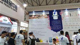 台灣商品中心設在上海自由貿易試驗區的台灣商品中心13日也在展場設點。中央社記者翟思嘉上海攝 107年11月13日