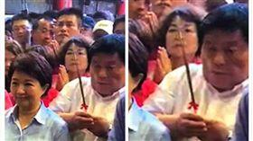 鎮瀾宮董事長顏清標差點被人群擠掉。(圖/翻攝自「爆廢公社」)