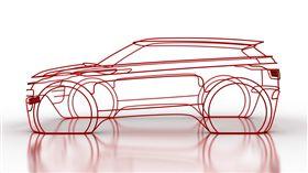 Range Rover Evoque 1:1鐵絲裝置藝術。(圖/Land Rover提供)