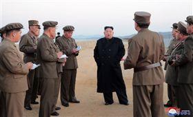 領導人金正恩視察「新研發的尖端戰略武器」測試/北韓中央通信社