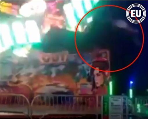 厄瓜多,遊樂設施,遊樂園,意外(圖/翻攝自eluniversocom YouTube)