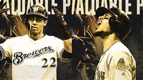 ▲貝茲(Mookie Betts)、葉力奇(Christian Yelich)拿下美職年度MVP。(圖/翻攝自MLB推特)