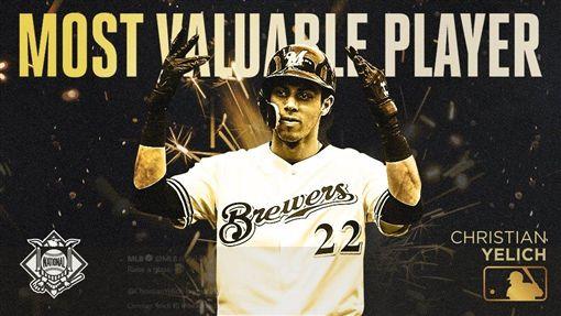 ▲釀酒人隊葉立奇(Christian Yelich)拿下國聯年度MVP。(圖/翻攝自MLB推特)