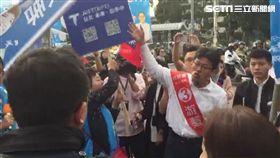 社民黨議員候選人游藝嗆郝龍斌丁守中大巨蛋問題