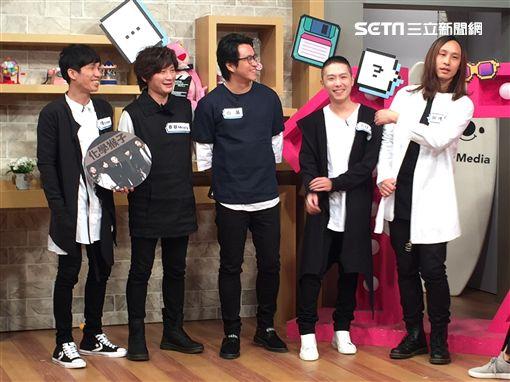 「化學猴子」團員位置排序說明-翔(左起),麥基,小黃,小任,阿博 圖/17 Media提供