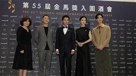 《誰先愛上他的》邱澤、謝盈萱和兩位導演徐譽庭、許智彥以及配樂李英宏 圖/記者邱榮吉攝影