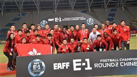 ▲香港男足在台北晉級東亞盃4強。(圖/記者林辰彥攝影)