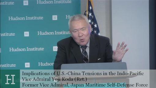 日本自衛隊前艦隊司令官香田洋二。(圖/翻攝自「哈德遜研究所」YouTube)