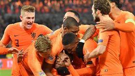 ▲荷蘭擊敗法國,球員們欣喜若狂。(圖/翻攝自UEFA官網)