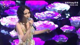 莫文蔚表演「Diva」中、英雙聲道齊開,唱腔收放自如。(圖/翻攝自遠傳Friday)