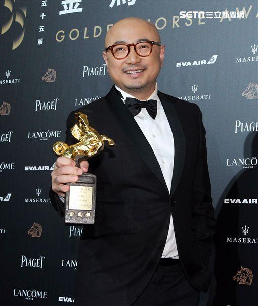 徐崢表示很喜歡金馬獎的氛圍,希望不只來一次。(圖/記者邱榮吉、林士傑攝影)