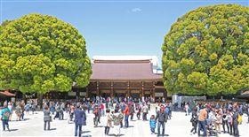 東京明治神宮。(圖/翻攝自@kurita88 推特)