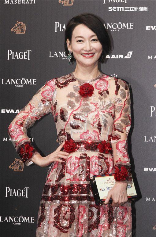 第55屆金馬獎「翠絲」主演惠英紅。(記者邱榮吉、林士傑/攝影)