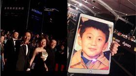 鄧超孫儷甜蜜走紅毯 粉絲一張照片讓他們「笑成表情包」! 圖/翻攝微博
