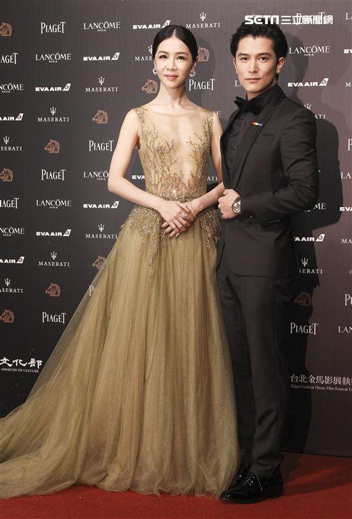第55屆金馬獎「誰先愛上他的」邱澤、謝盈萱。(記者邱榮吉、林士傑/攝影)