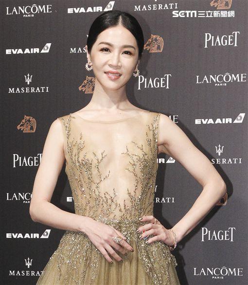 第55屆金馬獎「誰先愛上他的」謝盈萱。(記者邱榮吉、林士傑/攝影)