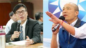 高雄市長,陳其邁,韓國瑜,辯論(圖/翻攝自陳其邁、韓國瑜臉書)