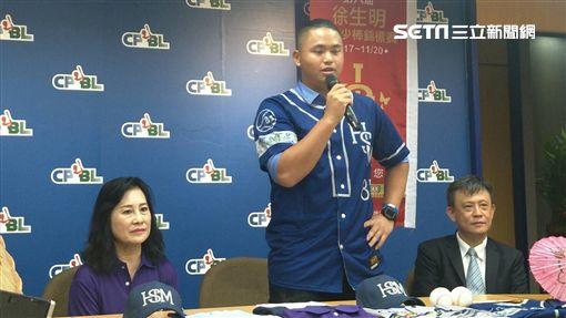 ▲胡智為參加徐生明棒球賽記者會。(資料照/記者林辰彥攝影)