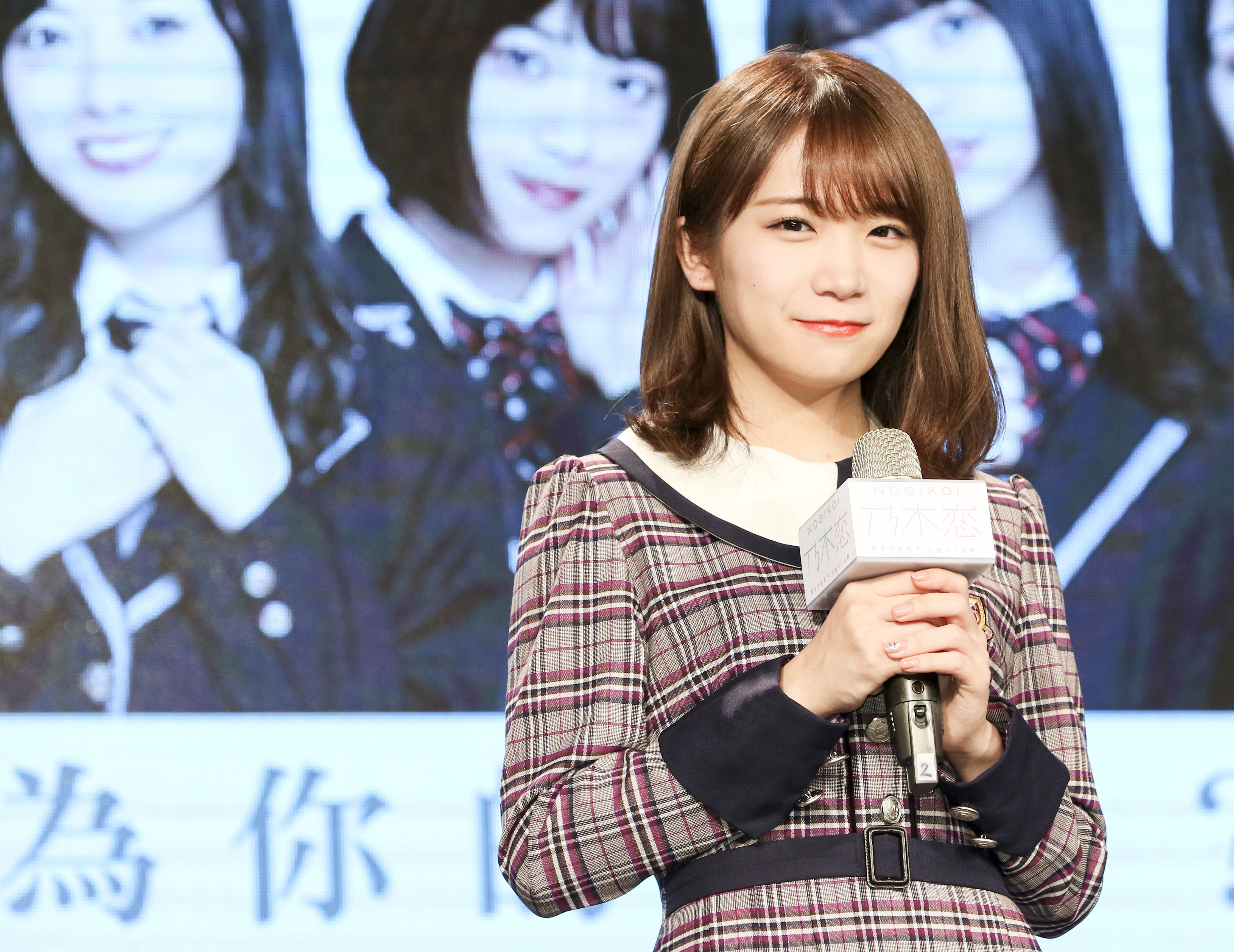 日本女團「乃木坂46」成員秋元真夏。(記者林士傑/攝影)