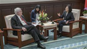 總統蔡英文20日接見美國智庫「戰略暨國際研究中心」(CSIS)訪問團。(圖/總統府提供)