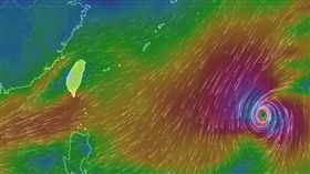 颱風,萬宜颱風,風場預報圖/中央氣象局