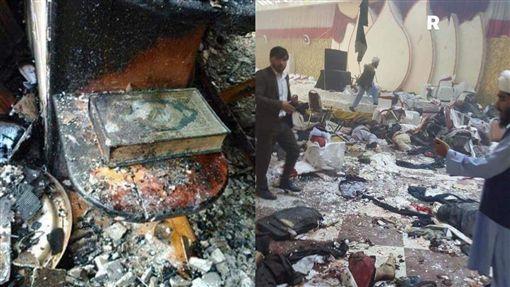 阿富汗宗教活動遭自殺攻擊 釀逾50死80傷圖/翻攝自twitter