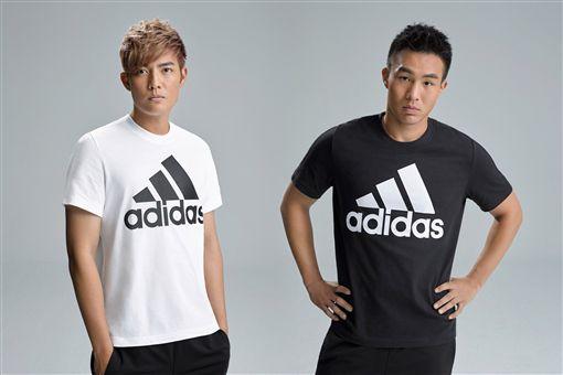 ▲王維中(左)與曾仁和。(圖/adidas提供)