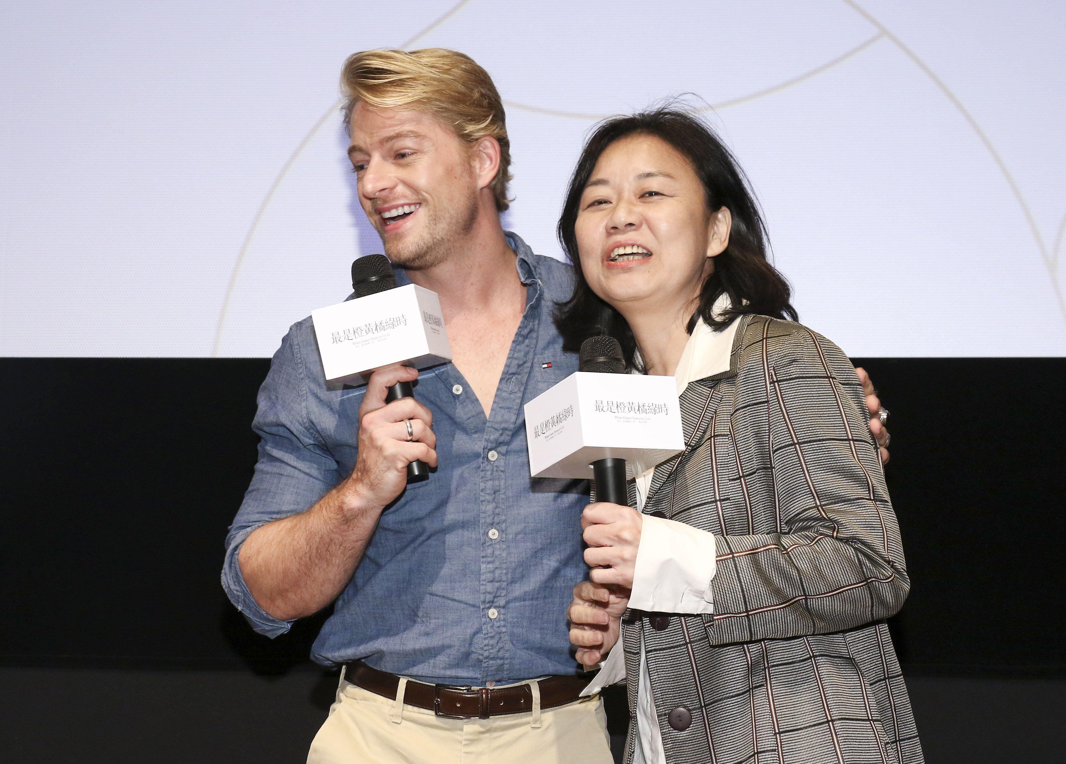 「最是橙黃橘綠時」電影發佈會導演徐慶珠、演員法比歐。(記者林士傑/攝影)