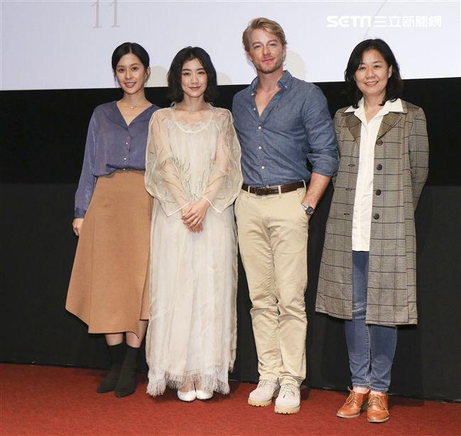 「最是橙黃橘綠時」電影發佈會導演徐慶珠,演員翁嘉薇、法比歐、廖曉彤。(記者林士傑/攝影)