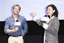 「最是橙黃橘綠時」電影發佈會導演徐慶珠,演員法比歐。(記者林士傑/攝影)