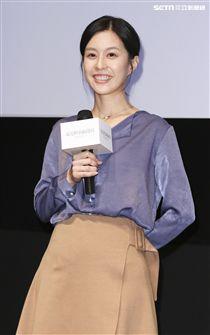 「最是橙黃橘綠時」電影發佈會演員廖曉彤。(記者林士傑/攝影)