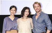 「最是橙黃橘綠時」電影發佈會演員翁嘉薇、法比歐、廖曉彤。(記者林士傑/攝影)
