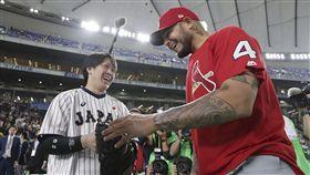 甲斐拓也參加MLB明星賽。(圖/美聯社/達志影像)