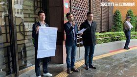 下一代幸福聯盟理事長曾獻瑩(中),北檢,中選會主委陳英鈐,違反公投法。潘千詩攝影