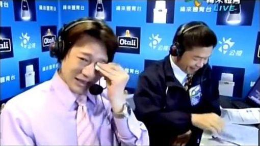 ▲徐展元淚灑主播台,一句「我真的好想贏韓國」成經典。(圖/翻攝自緯來體育台)
