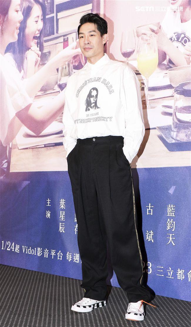 三立迷你劇「你好,幸福」首映會主演藍鈞天。(記者林士傑/攝影)